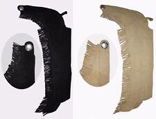 Western Chaps mit Fransen aus Leder Gr. XS-XL schwarz, braun oder beige