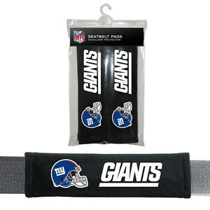 NEW New York Giants Seat Belt Pads Shoulder Protector Universal Size - Set of 2