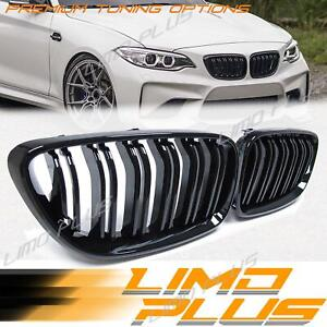 Glossy Black Front Kidney Grille Grill for BMW 2 Series F22 F23 M2 F87 fg57