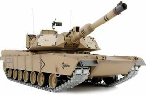 Radio Remote Control M1A2 Abrams Battle Tank RC 1:16  BB Shooting Smoking UK