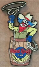 Hard Rock Cafe HOUSTON 1999 RODEO CLOWN in Barrel PIN Roper Roping - HRC #3264