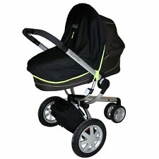 SnoozeShade Blackout Blind Sleep UV Pram Pushchair Stroller Shade Black