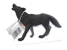 32) Safari schwarzer Wolf selten handbemalt Alaska Tiere Figuren