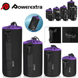 4 Pack Neoprene DSLR Camera Lens Pouch Protector Bag Case Set 4-Size Waterproof