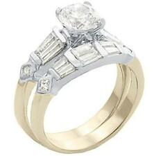 14K GOLD EP 5.51CT DIAMOND SIMULATED ENGAGEMENT RING size 7 or O