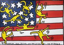 Tela Canvas Keith Haring cod 18 cm 70x100 Stampa Printing Digital Art papiarte