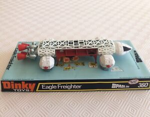 Vintage Dinky Gerry Anderson's Space 1999 Eagle Freighter, #360 opened