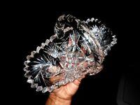 Antiq Cut Glass Basket HAWKES Antique Bowl American Brilliant Period