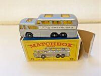 Vtg 1960s Matchbox Lesney Silver Greyhound Coach Bus #66 with Original Box NM