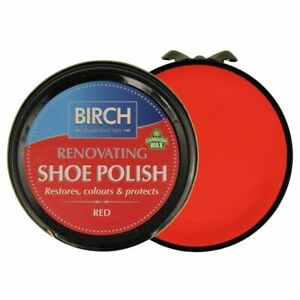Birch RED Renovating Traditional Shoe Boot Care Polish Smooth Leather Shine Wax