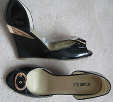 Mono Due leather wedge Heel Shoes (NEW)-size 3-£40.00