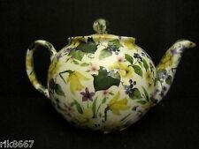 1 Heron Cross Pottery DAFFODILS Chintz English 3 Cup Tea Pot or 2 mugs