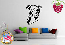Wall Stickers Vinyl Decal  Animal American Pitbull Terrier Dog  em384
