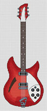 Rickenbacker Guitar Cross Stitch Kit