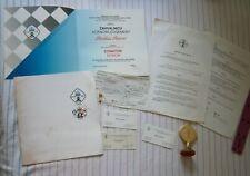 1990 SONSI Olympiad Chess FIDE Medal Yugoslavia Serbia Novi Sad Acknowledgment