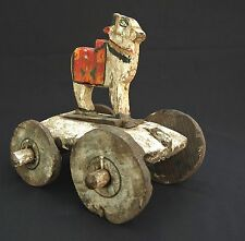 Antique Folk-art Indian Childs Toy Decorative Cow Item (original working item)