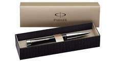 Parker Pen Urban Gift Box Ballpoint Blue Chrome Trim Ink Metallic New