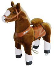 PonyCycle  Kids Manual Ride on Horse Small 3-5 Year Brown with White Hoof New