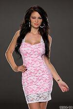 Party Club Formal Wear Modern Stylish Lace Mini Dress UK size 10-12 Pink White
