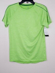 Champion C9 Boys' Green Heather Cloud Knit Breathable Stretch Athletic Tee New