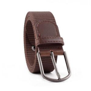 Men Belt Classic Pin Buckle Belts Braided Canvas Waistband Jeans Decor