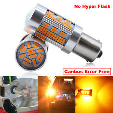 2x BAU15S PY21W Led Amber Canbus Turn Signal Light 105SMD 4014Chips Tail Lights