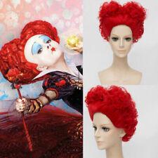 Women Deluxe Queen of Hearts Burgundy Wig In Wonderland Cosplay Halloween