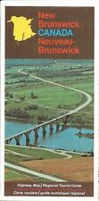 1973 NEW BRUNSWICK Official Highway Road Map Canada Fredericton Bathurst Brown