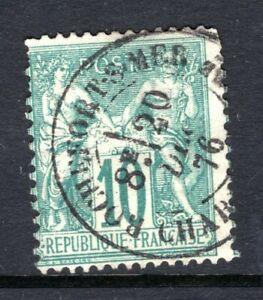 FRANCE Stamp Lot #22: Scott #68, 1876-78, 10 Centimes, Used, ROCHEFORT SUR MER