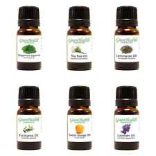 GreenHealth Essential Oil 10 ml Set/ Pack of 6 /All Natural Undiluted