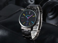 Mens Black Stainless Steel Colour Dial Watch Brand New