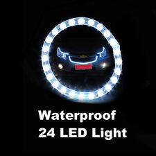 Flexible Car Strip Light Waterproof 24LED White Neon Strip White Bulb Lamp Decor