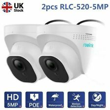 2X Reolink RLC-520 5MP PoE CCTV IP Dome Cameras