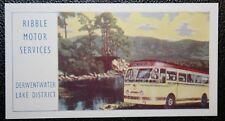 Ribble Motor Services  Coach   Lake District  Original Vintage 1950's Card