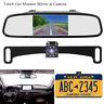 """5"""" LCD Car Rear View Backup Monitor License Plate Parking Night Vision Camera HD"""