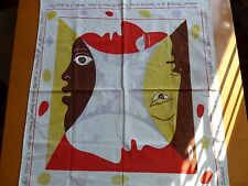 PICASSO FOULARD 1951 PAIX BERLIN RARE MUSEE ART TROU QUELQUES TACHES