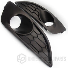 FORD FIESTA MK7 HONEYCOMB BLACK FRONT BUMPER FOG LIGHT COVERS SURROUNDS TRIMS