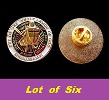 LOT 6 Knights Templar Masonic Put On The Whole Armor of God Lapel Pin Freemason