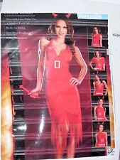 Size Large Women's Red Devil Dress Halloween Sexy Costume Party Dreamgirl