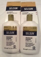 2Packsx120ml SELSUN ANTI-DANDRUFF SHAMPOO SELENIUM SULFIDE DERMATITIS