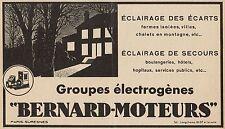 Y8830 Groupe électrogènes BERNARD-MOTEURS - Pubblicità d'epoca - 1936 Old advert