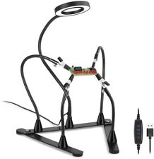 Soldering Helping Hand Third Hand Soldering Steel Free Rotation Base, 5 Arms 3X