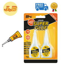 New 2 Pack Super Glue Strong Bond Adhesive Plastic Glass Wood Rubber Metal 10g