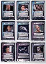 Star Trek CCG Deep Space Nine Complete Set Nr/Min Condition With White Defiant.