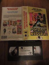 Pistolets pour un massacre de Umberto Lenzi, VHS, Western, RARE!!!