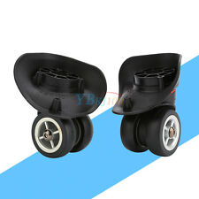 1 Pair 360° Flexible Suitcase Luggage Replacement Wheels Repair SS For Any Case