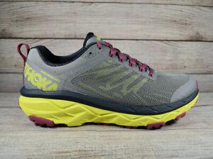 Hoka One One Challenger ATR 5 Trail Running Shoes Gray Yellow Women's Size 10