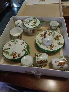 Antique Childs English Porcelain Tea Set - Bears Playing Golf England Sons