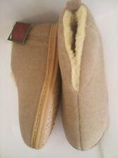 Men's Cozy Fabric Dorm Slippers Bootie House Shoe In/Outdoor Tan Size 9M