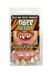 Billy-Bob Tiger Fake Funny Teeth Hillbilly Redneck King Custom Fit